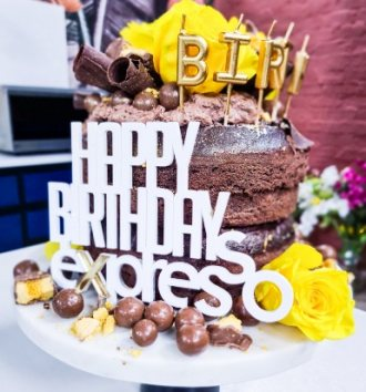 B-Well Espresso Chocolate Birthday Cake